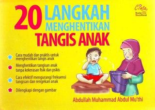 """Cover buku """"20 Langkah Menghentikan Tangis Anak""""."""