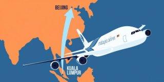 Rute penerbangan Malaysia Airlines MH370 yang hilang sejak Sabtu (8/3) - Foto: merdeka.com