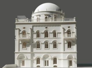 Rancangan sinagog yang akan dibangun di dekat Mesjid Al-Aqsa (paltimes)