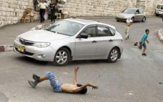 Aksi tabrak sengaja warga Palestina oleh warga Israel (paltimes)