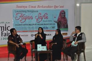 Meyda Shafira dalam acara Lounching SongBok 'Hujan Safir' - Foto: ACT