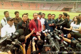 Sekretaris Jenderal (Sekjend) PKS, Taufik Ridho saat menggelar konferensi pers di Gelora Bung Karno, Kamis (13/3) - Foto: humas PKS