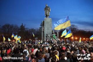 Demonstrasi di wilayah timur Ukraina (ukrpress.net)