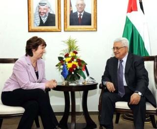 Pejabat Uni Eropa dan Presiden PLO dalam sebuah pertemuan (ivarfjeld.com)