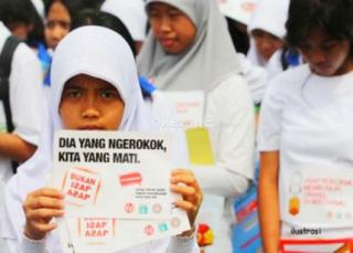 Kampanye anti rokok (ilustrasi).  (bantenposnews.com)