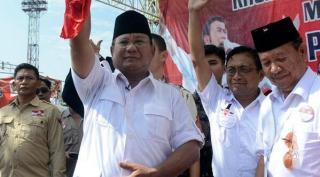 Capres Prabowo Subianto saat berkampanye didepan pendukungnya.  (liputan6.com)