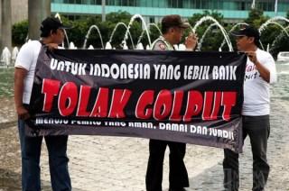 Aksi Menolak Golput untuk indonesia yang lebih baik (inet).  (metrotvnews.com)
