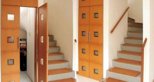 Gudang yang Tersamar yang memanfaatkan area bawah tangga yang biasanya kurang terolah. (rumahminimalis2014.com/)