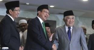 Meneteri Agama Lukman Hakim Saifuddin dan Ketua MUI Din Syamsuddin.  (suara.com)