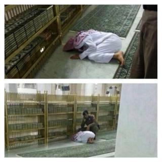 Foto lelaki yang meninggal di Masjid Nabawi kemarin (islammemo)