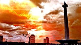 Cuaca panas yang melanda Jakarta (ilustrasi).  (liputan6.com)