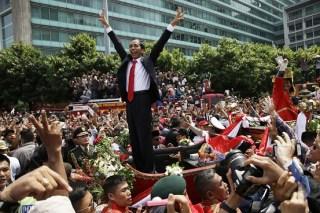 Kemeriahan Pesta Rakyat sambut presiden terpilih Joko Widodo. (indo.wsj.com)