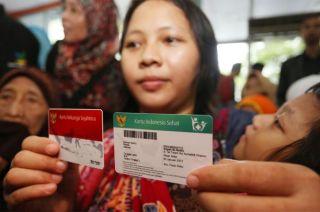 Contoh Kartu Indonesia Sehat. (metrotvnews)