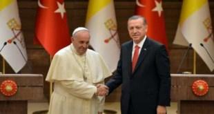 Paus Francis dan Erdogan. (today'sopinion)