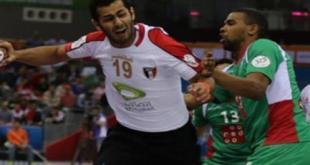 Timnas Bola Tangan Mesir belaga di Doha, Qatar.