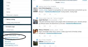 #KembalikanMediaIslam masuk Tranding Topik. (twitter)