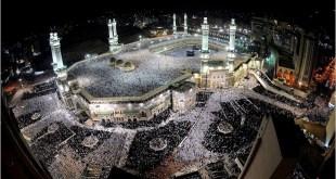 Masjidil Haram di malam hari (assunnahfm.com)