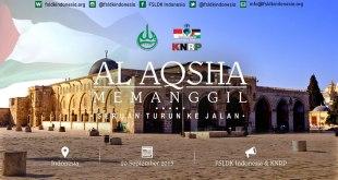 """Poster Aksi """"Al-Aqsha Memanggil"""". (ist)"""