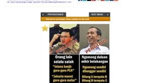 Hashtag #JokowiBerasapAhokKentut trending topic