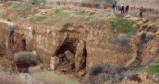 Di antara lokasi yang diklaim sebagai terowongan yang dihancurkan. (anadolu)