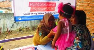 PKPU Lampung menyelenggarakan Lomba Balita Sehat di kelurahan Way Tataan, Teluk Betung Timur Bandar Lampung, pada hari Rabu (10/02/2016).  (Indah/Putri/PKPU)