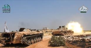 Tank-tank pasukan Oposisi bergerak membebaskan Aleppo. (aljazeera.net)