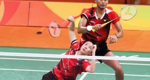 Tontowi/Liliyana maju kepartai Final Bulutangkis Olimpiade 2016 Brasil setelah mengalahkan pasangan Cina Zhang Nan/Zhao Yunlei. (sindonews.com)