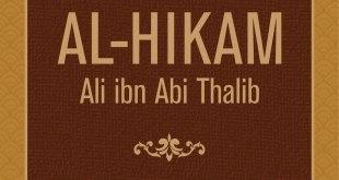 "Cover buku ""Al-Hikam Ali ibn Abi Thalib""."