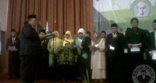 Ketua Majlis Syuro PUI KH. Ahmad Heryawan melantik  Pengelola dan Penyelenggara Universitas Halim Sanusi (UHS). (pikiran-rakyat.com)