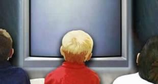 Ilustrasi - Anak-anak menonton televisi (inet)