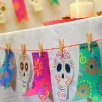 Guirnalda de calaveritas para Día de Muertos