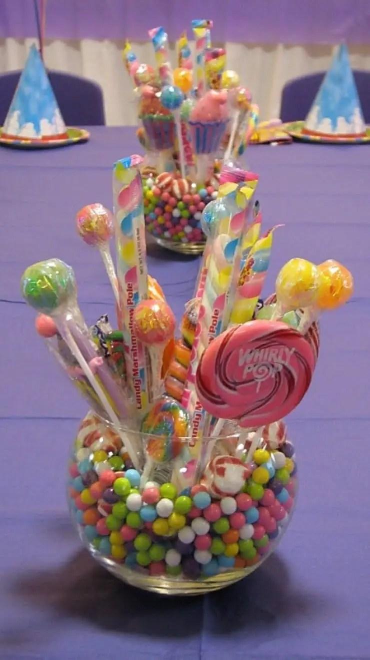 Centros de mesa con dulces for Mesa centro