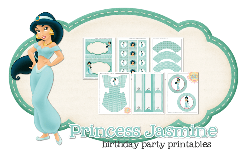Imprimible gratis Princesa Jasmin