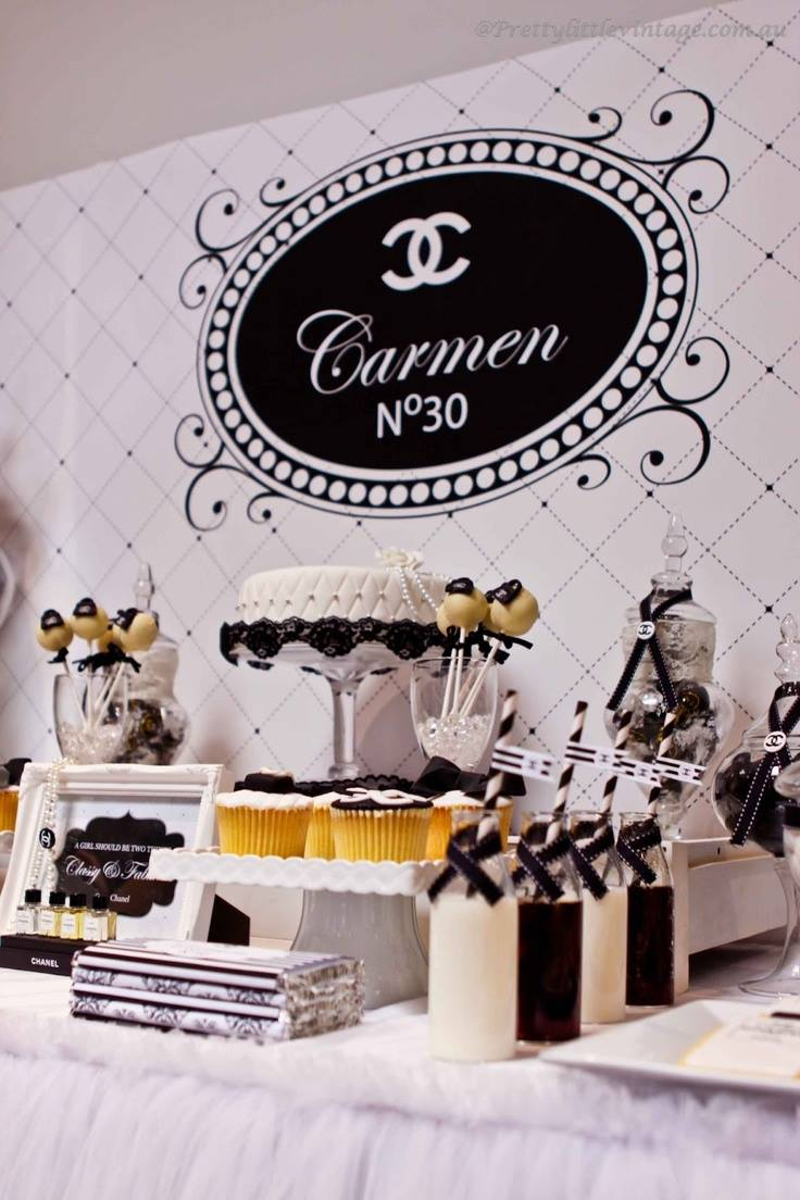 Cumplea os estilo coco chanel for 35th birthday decoration ideas