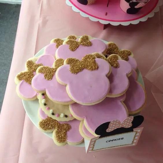 Decoracion Minie Dorada ~   de minnie en dorado y rosa Minnie Mouse minnie mouse en oro y rosa