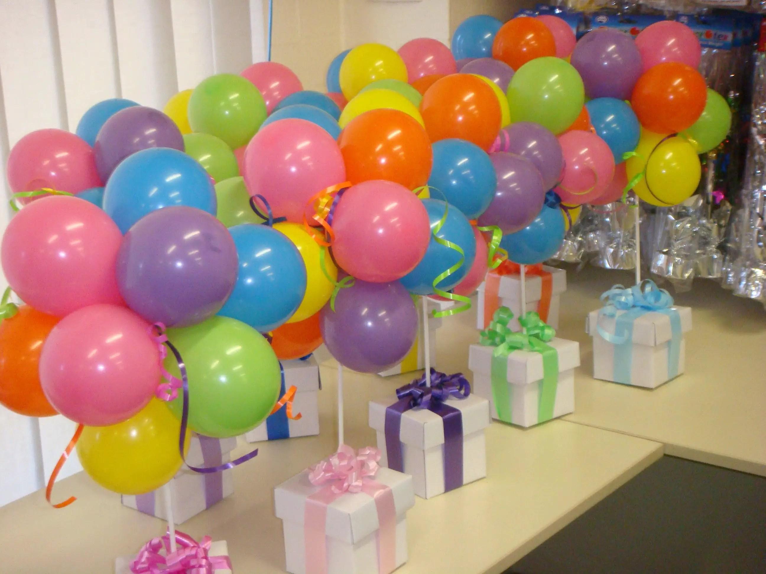 Incre bles centros de mesa con globos - Centros de mesa otonales ...