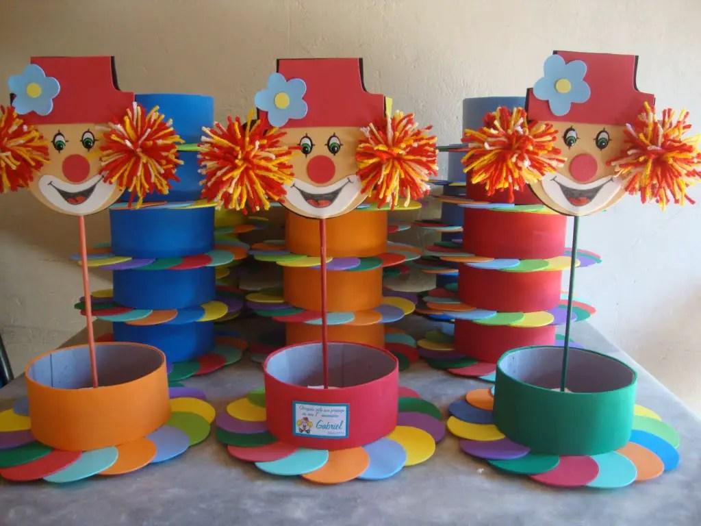 Fiesta infantil de payasos - Decoracion de mesa de cumpleanos infantil ...