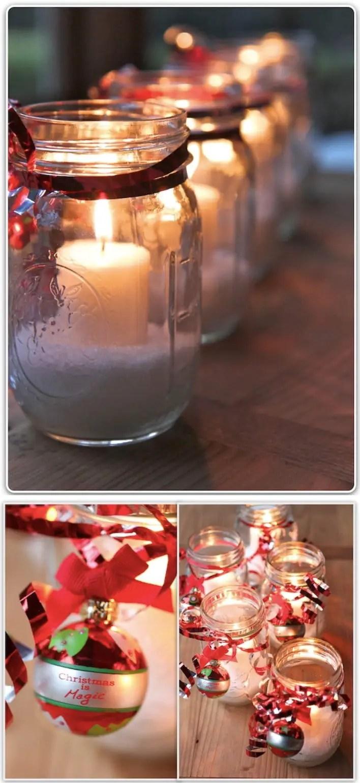 Reutiliza Frascos De Vidrio Para Decoracin De Navidad