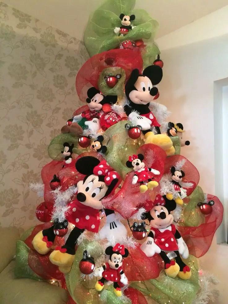 Decoraci n navide a con tema mickey mouse - Arbol de navidad adornado ...