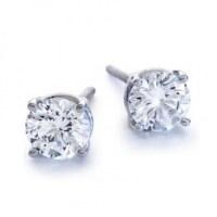 2Ct tw Round Diamond Stud Earrings 14Kt White Gold,Cheap ...