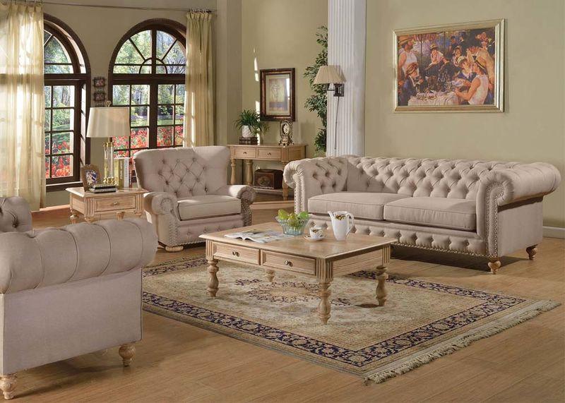 Dallas Designer Furniture Shantoria Formal Living Room Set - formal living room chairs