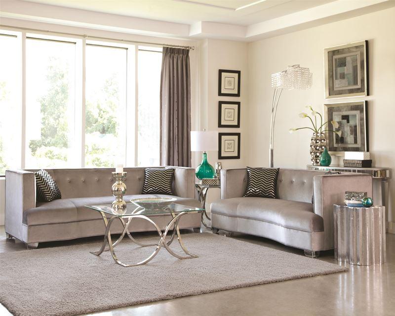 Caldwell Silver Living Room Set Dallas Designer Furniture - silver living room furniture
