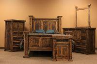 Dallas Designer Furniture | Rough Pine Rustic Bedroom Set