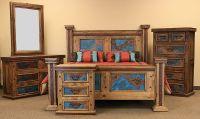 Dallas Designer Furniture | Turquoise Copper Panel Rustic ...