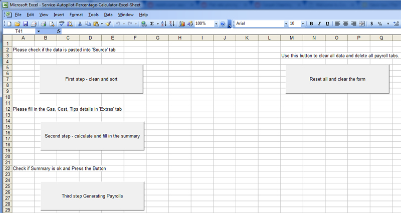 Service Autopilot Excel Commission Payroll Calculator - Maid Service
