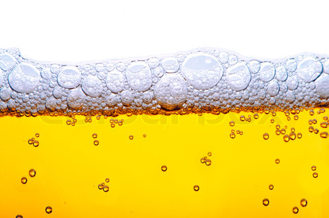 yellow beer with foam
