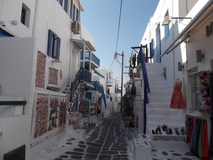 Traversing the Streets of Mykonos Town