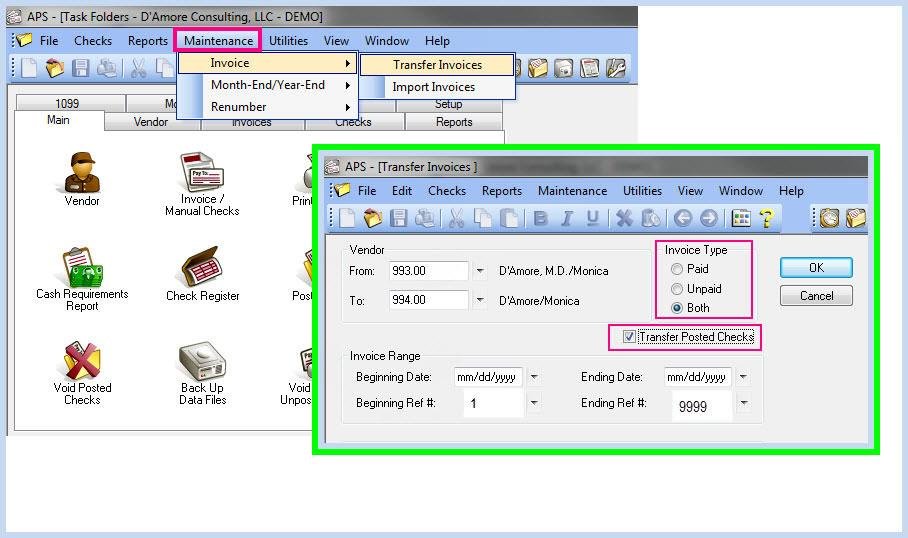 How to Merge Duplicate Vendors in Tabs3 Accounts Payable D\u0027Amore