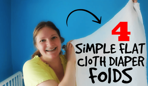 simple flat cloth diaper folds