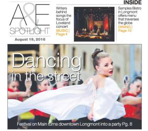 We were on the front page of the Arts and Entertainment section of the Times Call